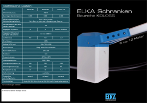Flyer: Elka Schrankensystem Koloss